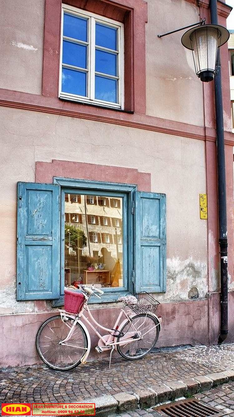 Trang Trí Mặt Tiền Quán Cafe Vintage