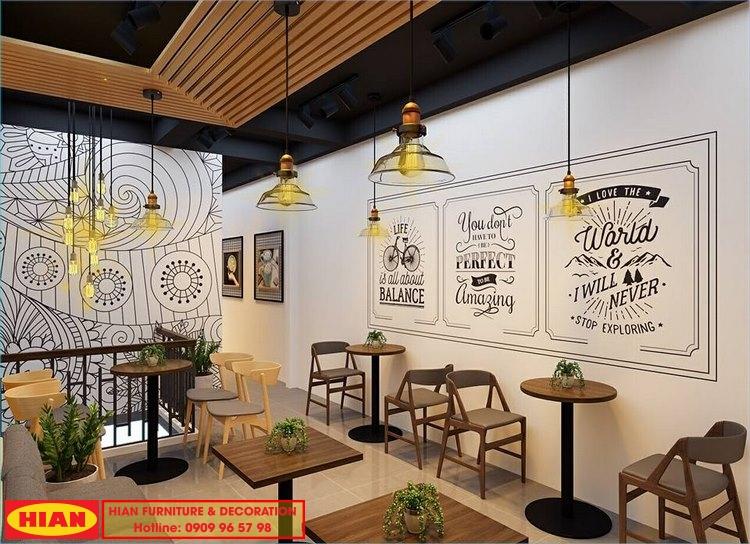 thiết kế quán cafe hian