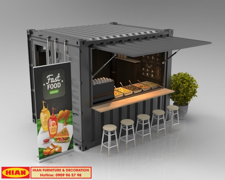 Thiết Kế Quán Cafe Container