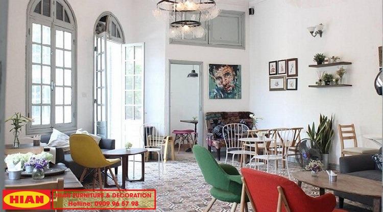 Thiết kế quán cafe phong cách cố điển