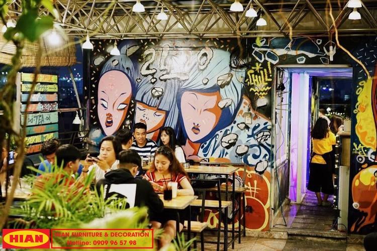 Thiết kế quán cafe sân thượng