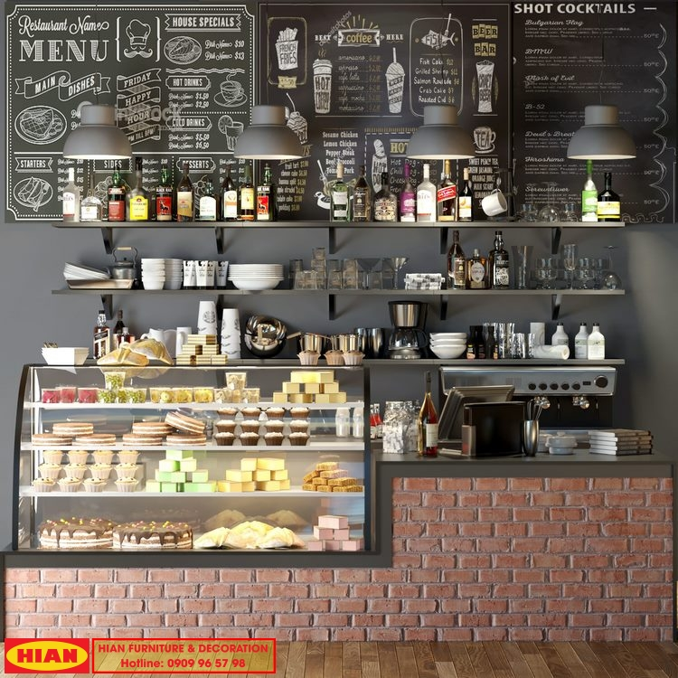Thiết Kế Quầy Pha Chế Cafe