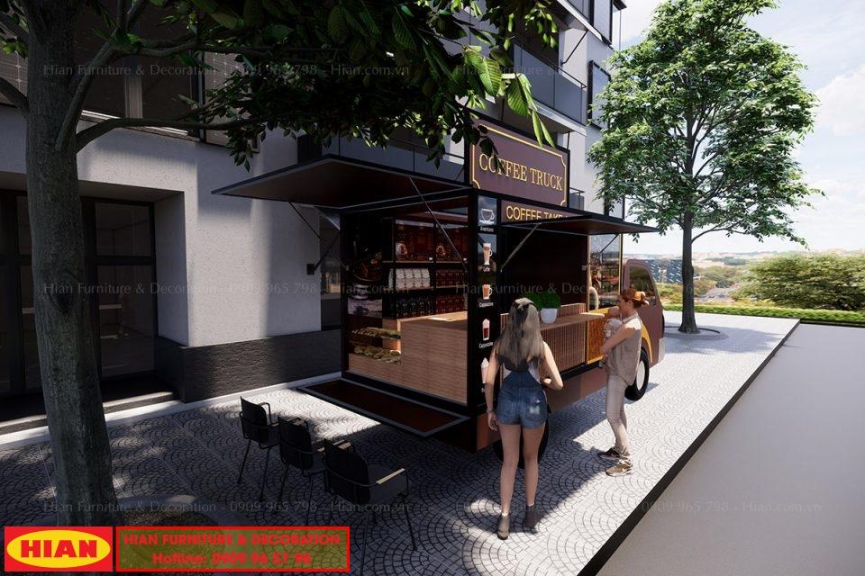 Thiết Kế Xe Tải Cafe Coffee Truck