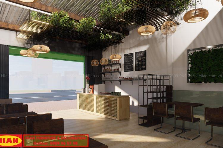 Thiết Kế Quán Cafe Đơn Giản